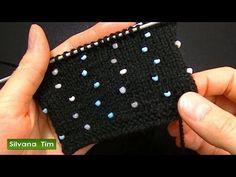 Cómo agregar perlas (abalorios, cuentas, mostacillas) Tejido con dos agujas # 527 - YouTube