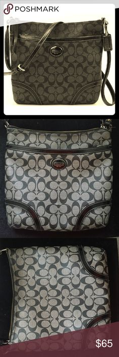 COACH Crossbody Bag✨Special in desc. COACH • Good condition • Black & light gray • Style: Peyton File Crossbody • Lots of space & multiple compartments • Large front pocket area • Questions, offers, more pics?! • ✨GET MY AVON BUNDLE OF MASCARA & EYELINER FOR ✨FREE✨ WITH YOUR PURCHASE OF THIS BAG✨ Coach Bags Crossbody Bags