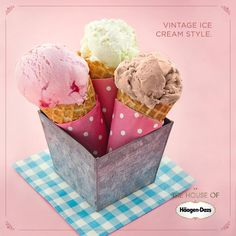 Um estilo clássico e elegante que pertence apenas ao melhor sorvete. #haagendazslovers #houseofhaagendazs #icecreamsocial
