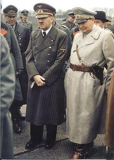 German World War 2 Colour Hitler And Hermann Goring JAN16