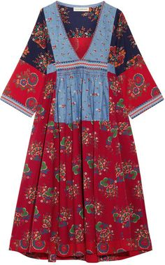 Ulla Johnson - Milena Embroidered Patchwork Cotton And Linen-blend Dress - US6