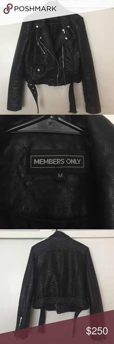 Members Only leather jacket Brand new without tags Members Only Jackets & Coats