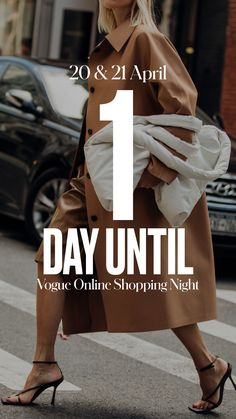 Get your wishlist ready. Vogue Online Shopping Night is less than 24 hours away! Vogue Online, 1 Day, Fashion News, You Got This, Online Shopping, Night, Bags, Handbags, Net Shopping