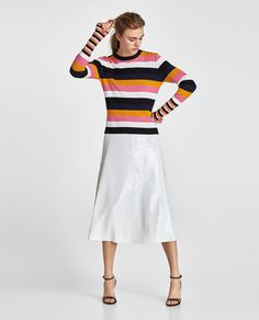 ZARA - WOMAN - STRIPED RIBBED TOP