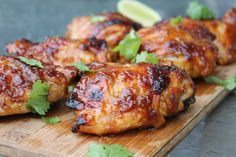 Hawaiian-glazed chicken