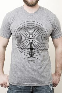 Telemanipulation by Lead & Light.  Hand printed on American Apparel TR401 Tri-Blend Short Sleeve Track Shirt.