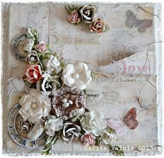 My Secret Love - shabby chic canvas