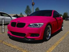 pink BMW...I...would actually totally drive the shit out of this.
