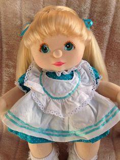 My Child Doll Blonde UL Aqua Peach Pink