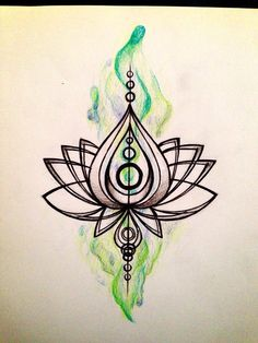 Possible Tattoo: a white lotus flower representing (in buddihsm) the state of Bodhi: becoming awakened, when one reaches this state, it is said that one has mental purity and has reached a state of spiritual perfection.