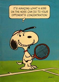 Snoopy Tennis, - Original vintage poster by Charles M Schulz . Peanuts Cartoon, Peanuts Snoopy, Schulz Peanuts, Snoopy Cartoon, Snoopy Love, Snoopy And Woodstock, Tennis Funny, Tennis Humor, Snoopy Comics