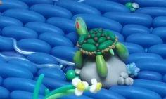Turtle mid-stream