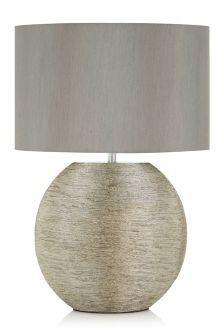 Silver Ceramic Large Table Lamp