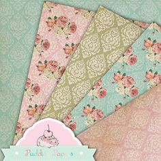 Shabby Lace Vintage Instant Download Digital by puddingpapers