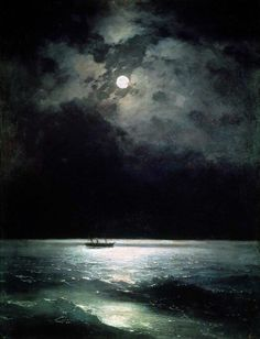"https://www.facebook.com/MiaFeigelson ""The Black Sea at night"" ""Ночь на Черном море"" (1879) By Ivan Aivazovsky (Иван Айвазовский), from Russia (1817 - 1900) - oil on canvas; 100 x 79 cm - [Romanticism]"