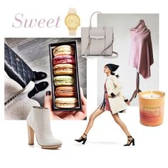 Sweet by mdrozd on Polyvore featuring moda, Dear Frances, Rebecca Minkoff, Komono, Jo Malone, By Terry and modern