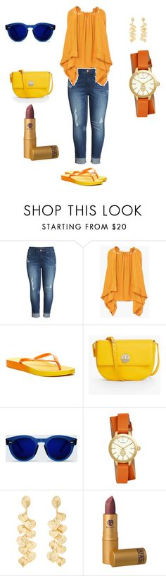 Sans titre #7 by fanjadesigner on Polyvore featuring mode, MANGO, Melissa McCarthy Seven7, Rider, Talbots, Tory Burch, Kenneth Jay Lane and Lipstick Queen