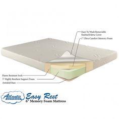"6"" Memory Foam Bunk Bed Mattress - Twin or Full"