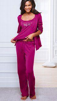 Women's Pajamas: Flannel, Cotton, Silk, Cami Pajamas & Boyshort Sets at Victoria's Secret Silk Pajamas, Pyjamas, Pjs, Pj Sets, Pajamas Women, Everyday Fashion, Supermodels, Lounge Wear, Victoria Secret Pink