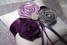 Ring Bearer Pillow Dark Plum Lilac Charcoal Gray and by itsmyday, $40.00