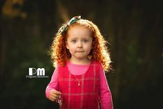 Magical red head little girl in the forrest.  Photography by Rikki-Lee Wrightson of Pregnant Memories