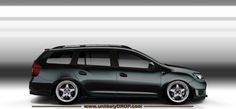 The new Dacia MCV, slammed cambered on 17s and a dark color. Nothing fancy!