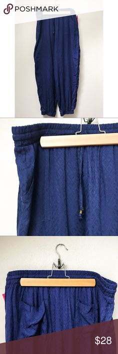 Blue Drawstring Joggers Blue drawstring joggers/sweatpants with a touch of fancy in their ikat jacquard printing.  ✅Bundle & Save 🚫Trades 🚫Off-Posh 🚫Modeling  💞Shop with ease; I'm a Posh Ambassador.💞 Xhilaration Pants Track Pants & Joggers