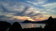 Magnificent evening sky of Panormos bay (Πάνορμος)