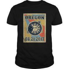 Vintage Oregon Total Solar Eclipse 2017 Tshirt