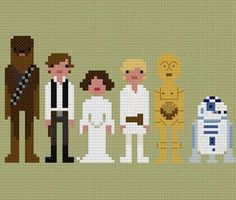 Star Wars cross-stitch pattern from Wee Little Stitches on etsy