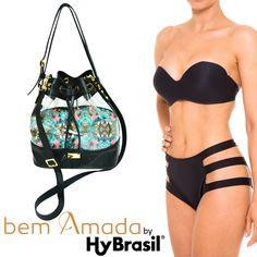 Shapes e recortes diferenciados já são marca registrada da Hy Brasil. Dá uma olhada neste Maiô preto. É de babar. Além disso, combina super com as bolsas e sandálias da Bem Amada. #Biqíni #Hy Brasil #Moda #Praia #Summer #BemAmada #Bolsa #Sandália #Maiô #AdoroPresentes