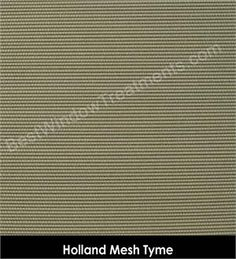 Holland Mesh Tyme (moss green color) for custom woven wood roman shades, grommet side panels for sliding door or window, sliding panel system for home or commercial/hospitality window treatments