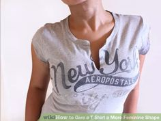 Image titled Give a T Shirt a More Feminine Shape Intro