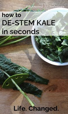 Ahhh, where has this been all my life!? (Video: How to de-stem a bunch of kale in just seconds)
