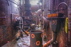 The former Carrie Furnace site, abandoned in and now a National Historic Landmark. Steampunk Robots, Decay, Pittsburgh, Abandoned, Color, Left Out, Colour, Ruin, Colors