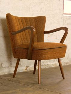 Mid Century Retro Cocktail Lounge Arm Chair Armchair Sessel Vintage 50s 60s  in Antiques  AntiqueMid Century Modern Upholstered Mustard Selig Style Lounge Chair  . Mid Century Modern Chairs Ebay. Home Design Ideas