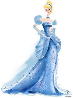 Disney Princess Watercolors Cinderella by Jenny Chung