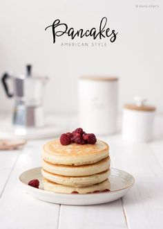 Recipe: Perfect american style pancakes! Fluffy, thick and yummy!!