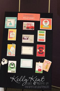 Stampin' Up! Convention 2015 - Kelly Kent Demonstration Booth - Punches & Punch Art. Kelly Kent - mypapercraftjourney.com.