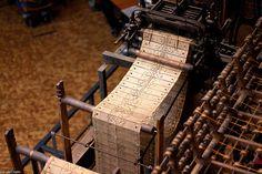 -weaving program for loom    Technikmuseum 08    Stoff- und Kleidungsindustrie, Webmaschine