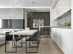 foorni.pl | Nowoczesny apartament w Moskwie, jadalnia w kuchni
