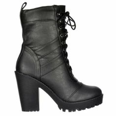 Amazon.com: Onlineshoe Womens Tall Military Lace Up With Block Heel Ankle Boot: Shoes