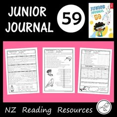New Zealand Junior Journal 59 - Activity Sheets Reading Resources, School Resources, Word Study, Word Work, Literacy Programs, Compound Words, Opinion Writing, Spelling Words, Activity Sheets
