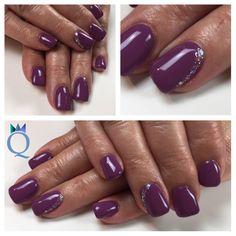 #shortnails #gelnails #nails #purple #rainbow #glitter #kurzenägel #gelnägel #nägel #violett #regenbogen #glitzer #akyado #nagelstudio #möhlin #nailqueen_janine