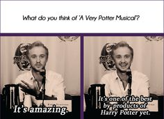 Tom Felton is a starkid! <<< don't know if this is real but I hope he is a starkid (just like John Green :) ) Harry Potter Universal, Harry Potter Fandom, Harry Potter Memes, A Very Potter Sequel, Very Potter Musical, Avpm, Team Starkid, Hogwarts, Slytherin Pride