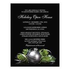 Business And Store Holiday Open House Flyer  Holiday Parties