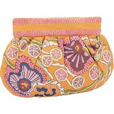 #FabricHandbags, #Handbags - Moyna Handbags Gathered Clutch Orange - Moyna Handbags Fabric Handbags