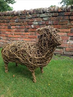 Willow sheep, standing, by Gary Brown.