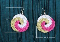 Crochet earrings lightweight handmade colorful by LuluXuruuKnichet