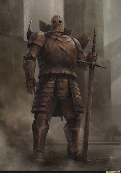 Rust by Jens Kuczwara - Fantasy High Fantasy, Dark Fantasy Art, Fantasy Concept Art, Fantasy Character Design, Fantasy Rpg, Medieval Fantasy, Fantasy Artwork, Character Art, Fantasy Warrior